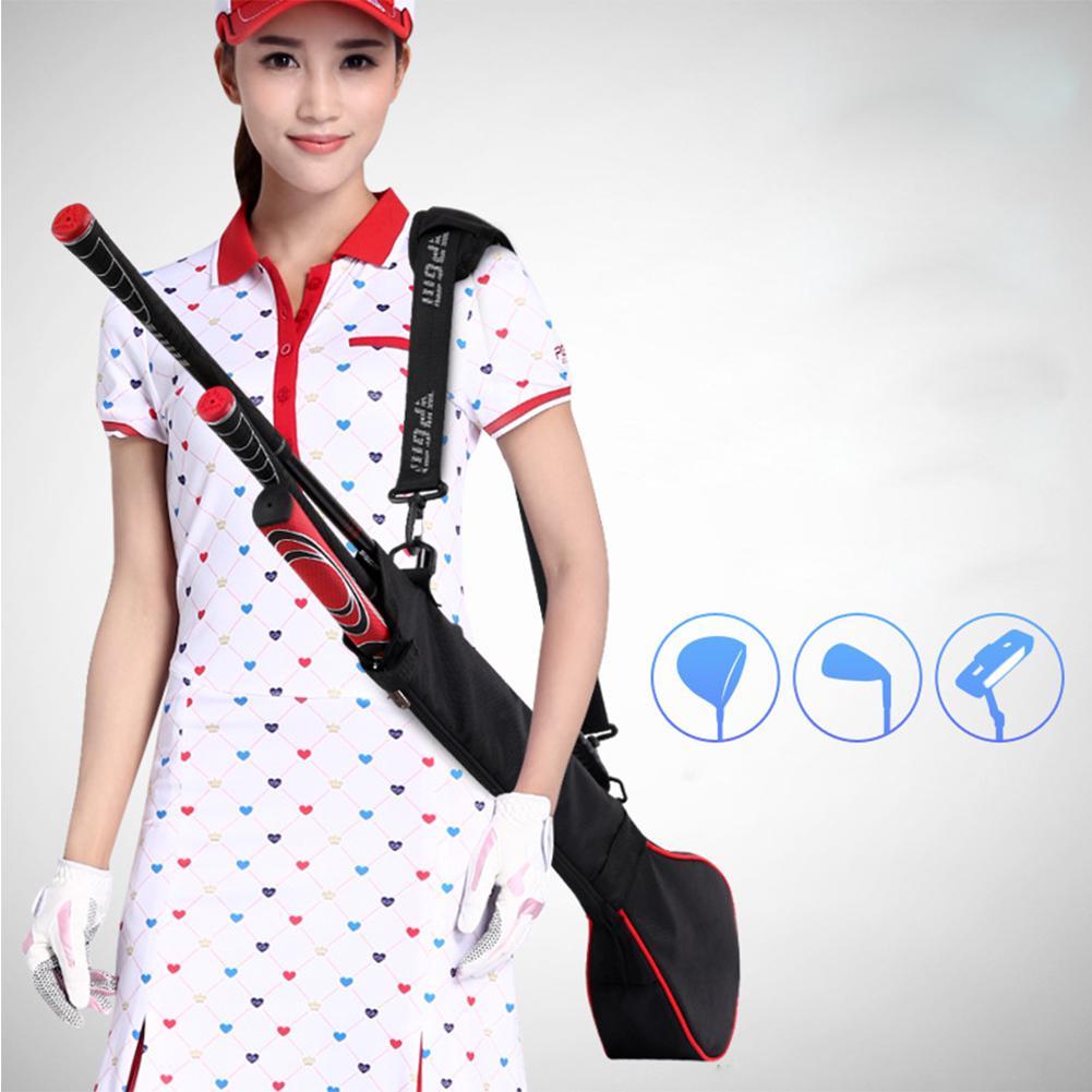 HobbyLane Portable Lightweight Golf Clubs Carry Bag With Three Clubs Mini Nylon Golf Clubs Travel Bag