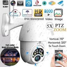 Новая ip-камера Onvif WiFi 2MP HD 1080P Беспроводная скоростная купольная камера видеонаблюдения IR камера наружного видеонаблюдения NetCam 5 X ZOOM PTZ IP