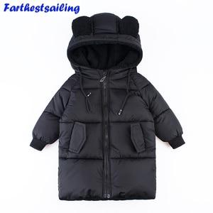 Image 1 - Детские парки пальто с капюшоном детские зимние куртки теплая пуховая хлопковая куртка для девочек и мальчиков, одежда enfant, верхняя одежда плотное пальто