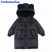 Kids Parkas Hooded Coat childrens Winter jackets Warm Down cotton jacket For Girls boys clothes enfant Outerwear Thick Overcoat