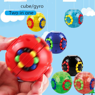 New puzzle little magic bean rotating hamburger cube top 2 in 1 3x3x3 Speed Magic Cube Educational Toys stress reliever toys 1
