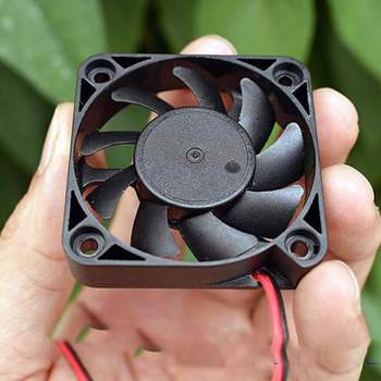 Electric Radiator Cooling Fan DC12V-24V 18V 50mm*50mm Mini Brushless Fan Black Silent Quiet Small Micro 5010 Cooling Fan image