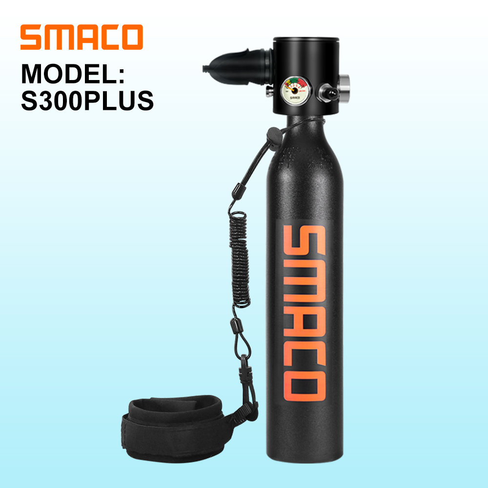 SMACO S300Plus Constant Pressure Mini Scuba Diving Cylinder Scuba Oxygen Tank Underwater Breathing  7-10 Minutes