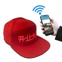 Genial sombrero LED bluetooth con pantalla LED de 12*48 píxeles de mayor calidad y mayor tamaño, gorra LED para fiesta, baile, senderismo, viaje