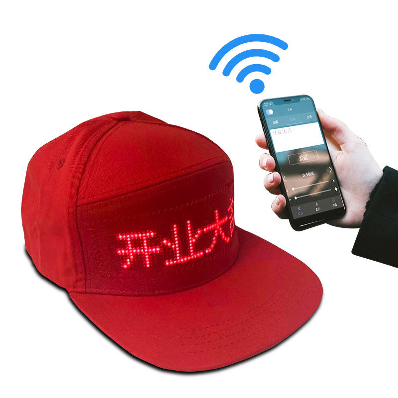 Cool Bluetooth LED Hat With 12*48 Pixels LED Display Higher Quality And Bigger Size LED Party Dance Hiking Travel LED Hat Cap