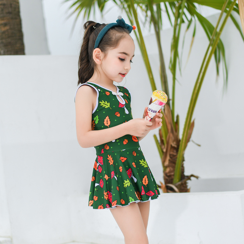 KID'S Swimwear GIRL'S Big Boy Princess Swimwear Dress-Baby South Korea Girls Bubble Hot Spring Tour Bathing Suit