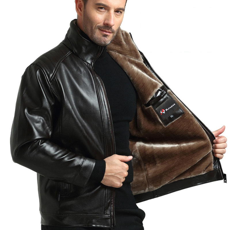 2020 New Men Genuine Leather Coat Sheepskin Men's Short Jacket Leather Winter Jackets Mens Free Shipping Plus Size M-3XL