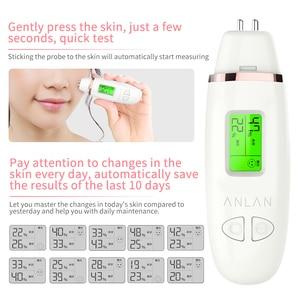 Image 5 - Анализатор содержания масла кожи ЖК цифровой увлажнение кожи на лице метр на батарейках уход за кожей Тестер монитор детектор