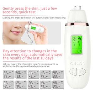 Image 5 - עור שמן תוכן Analyzer LCD דיגיטלי פנים עור לחות מד סוללה מופעל טיפוח עור Tester צג גלאי