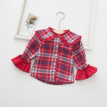 WeLaken Autumn Blouses For Girls Clothes Fashion Children Blouses & Shirts For Kids Tops Outfit School Shirts For Girls Blouse