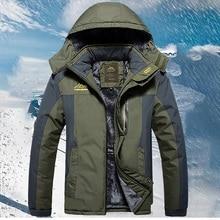 Winter Outdoor Men Camping Skiing Cycling Sports Jacket Practical Waterproof Windproof Thick Thermal Coat Durable Windbreaker стоимость
