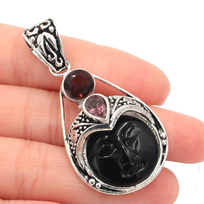 52x26 մմ Հատուկ աստվածուհի Դեմքի սև - Նուրբ զարդեր - Լուսանկար 1