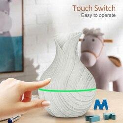 130ml USB dyfuzor olejów zapachowych biały ziarna elektryczny nawilżacz ultradźwiękowy nawilżacz powietrza aromaterapia LEDlight mist maker dla domu w Nawilżacze powietrza od AGD na