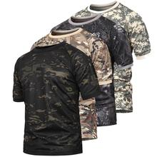 цена на PAVEHAWK Camouflage tactical quick dry polyester man's t-shirt raglan short sleeve 3d round neck breathable boys army shirt p-32