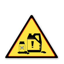 Знак внимания обратите внимание на химические продукты автомобильная
