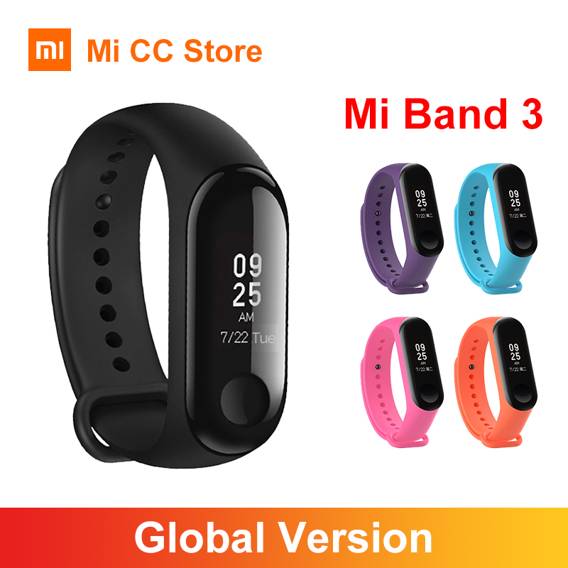 Global Version Xiaomi Mi Band 3 Smart Wristband Fitness Bracelet 0 78inch OLED Screen Message Heart Rate 50M Waterproof mi band3