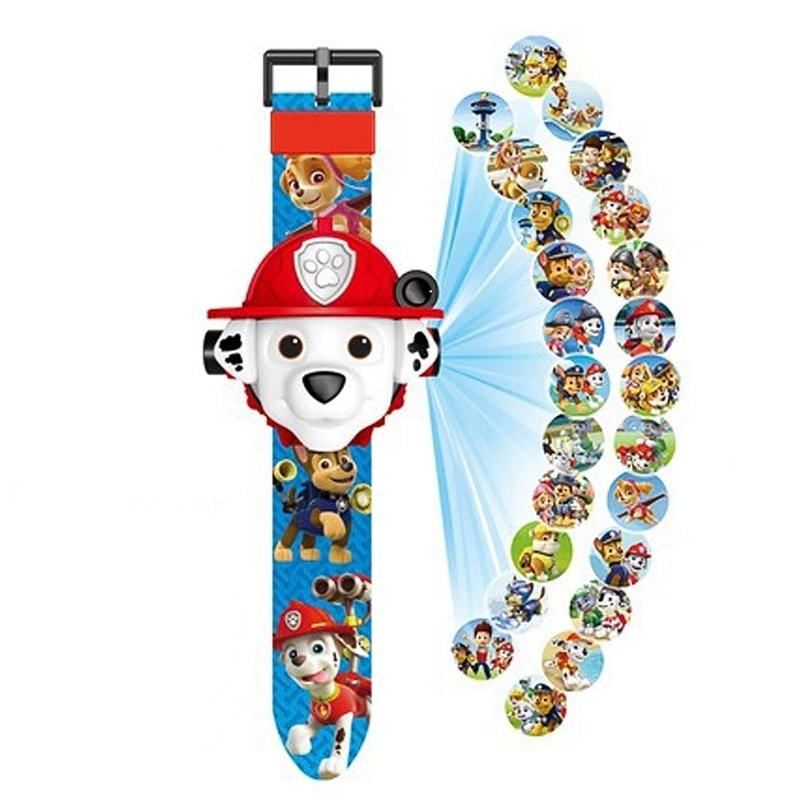 Paw patrol игрушки набор 3D проекционные часы фигурка на день рождения Аниме Фигурка Patrulla Canina игрушка подарок - Цвет: 3