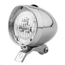 Faro LED clásico Vintage para bicicleta, faro delantero Retro para bicicleta, faro antiniebla delantero, luces para bicicleta, negro y plateado