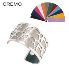 Cremo Giraffe Bangles & Bracelets Statement Femme Wide Bijoux Dainty Cuff Interchangeable Reversible Pulseiras Bracelet
