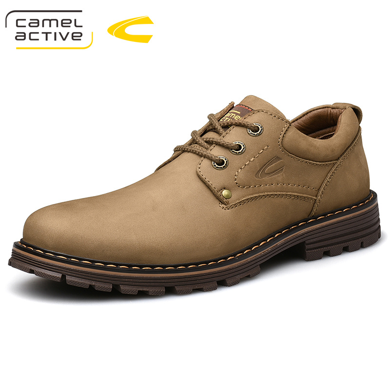 Camel Active New Men's Shoes Comfortable Casual Shoes Genuine Leather Retro Fashion Business Soft Non-slip Resistant Men Shoes