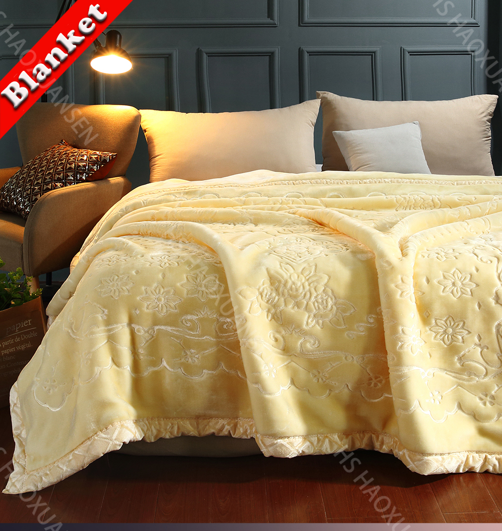 Luxury Flanelle Doux /& Chaud Confortable Super Soft Fleece Throw Blanket Bed Sofa Throw