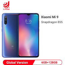 글로벌 버전 xiao mi mi 9 mi 9 6 gb 128 gb snapdragon 855 48mp 트리플 카메라 amoled 휴대 전화 지문 무선 충전 nfc