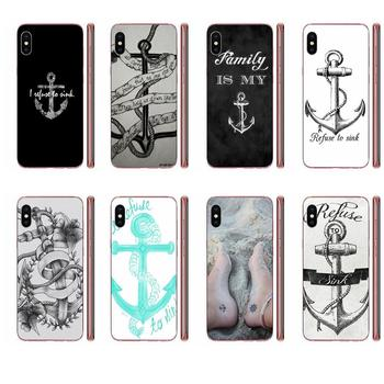 I Refuse To Sink Anchor Transparent TPU Covers For Xiaomi Redmi Note 8 8A 8T 10 K30 5G Pro For Motorola G G2 G3 G4 G5 G6 G7 Plus image