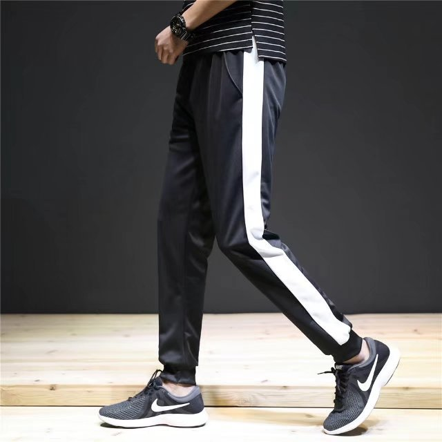 2019 Spring Summer Athletic Pants Men's Loose-Fit Trousers MEN'S Casual Pants Skinny Closing Ankle Banded Pants Sweatpants Trend