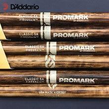 Promark firegrain americano hickory baquetas clássico ou para a frente/rebote selecionado sistema de equilíbrio 5a/5b/7a, feito nos eua
