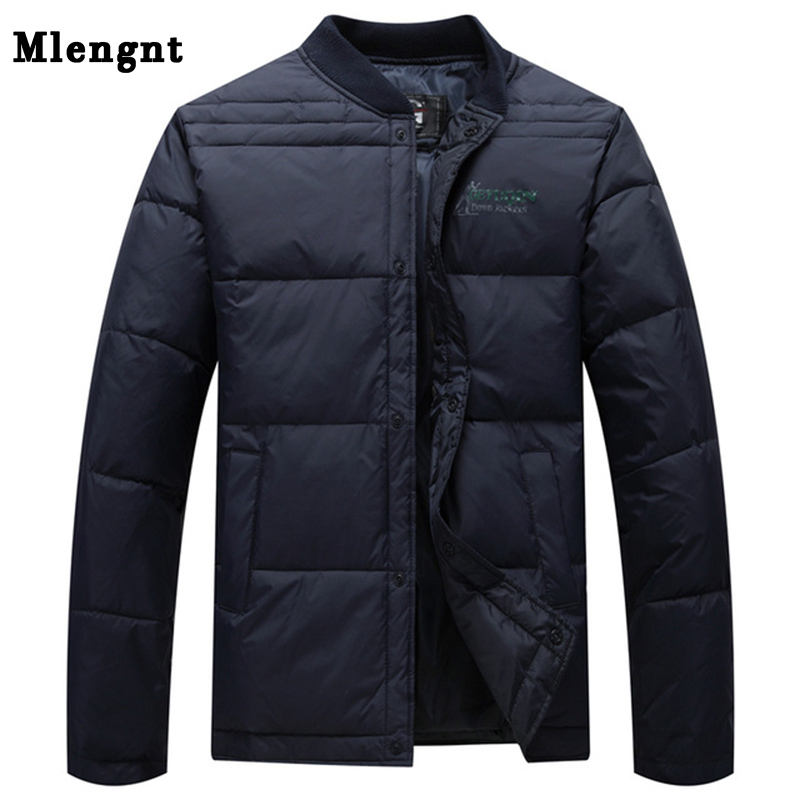 2019 Autumn Winter Mens White Duck Down Jacket Casual Ultralight Male Windbreakers Warm Outwear Men Jacket And Coat Size L-4XL