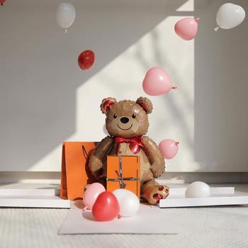 2 sztuk 91*65cm miłość niedźwiedź folia aluminiowa balon kreskówka niedźwiedź urodziny dzieci dekoracja na przyjęcie ślubne baby shower przyjęcie balon tanie i dobre opinie LTDARTY CN (pochodzenie) Ślub i Zaręczyny Chrzest chrzciny Na Dzień świętego Patryka Wielkie wydarzenie Przejście na emeryturę