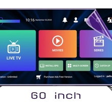 55inch OTT PLUS TV protector Protect eyes M3U XXX test for IOS android pc iptvs smart TV sell in Portugal Europe Canada Arabic