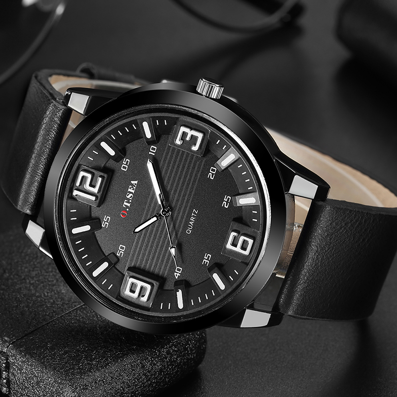 Relogio Masculino 2019 Luxury Brand Leather Men's Wrist Watches Men Analog Military High Quality Quartz Wristwatches Male Clock