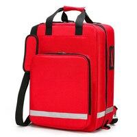 Kit de Primeiros Socorros ao ar livre Esportes Ao Ar Livre de Nylon Vermelho À Prova D' Água Saco Cruz Saco Do Mensageiro de Viagem Da Família de Emergência Médica DJJB048 Kits de emergência     -