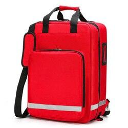 Kit de primeros auxilios al aire libre deportes al aire libre Nylon rojo impermeable Cruz bolsa de mensajero viaje familiar bolsa médica de emergencia DJJB048