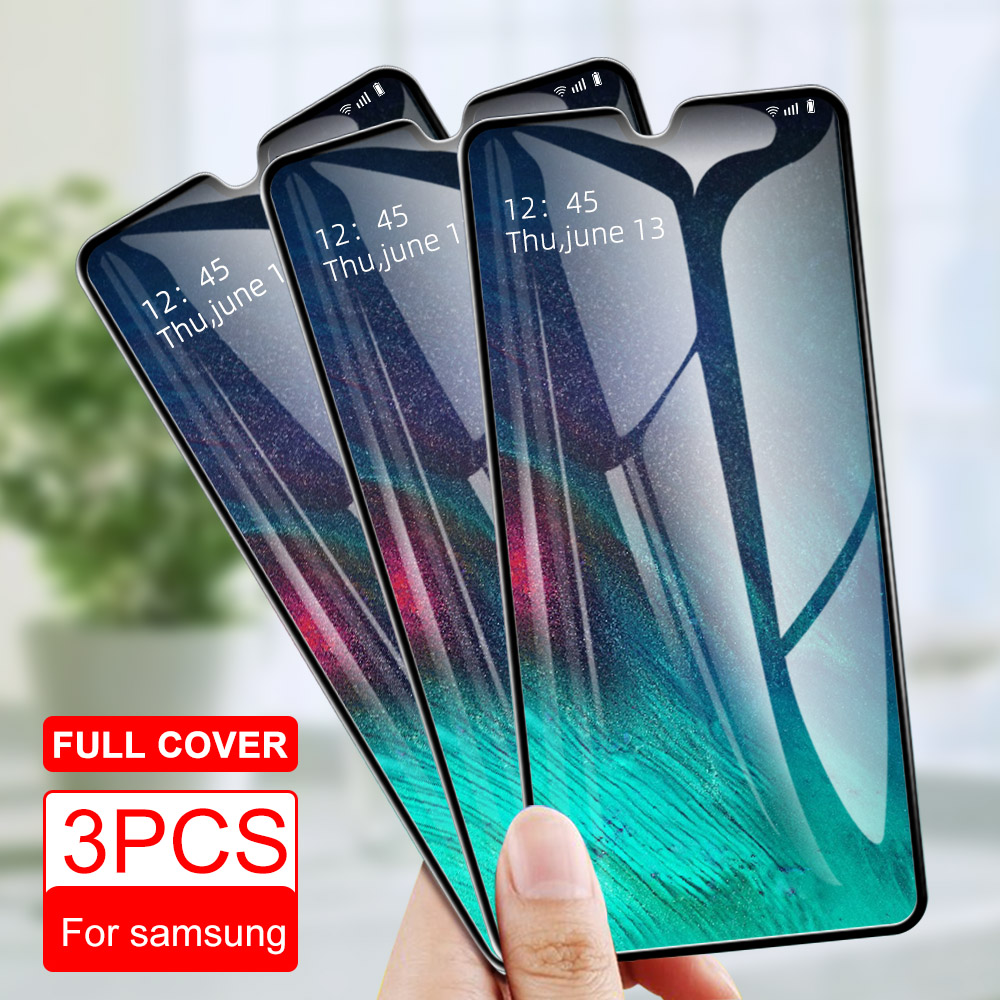 3PCS Tempered Glass For Samsung A50 A40 A70 A90 M30 A30 M10 A10 Screen Protector Glass For SamsungA8 A9 A7 2018 A5 A9 2020 Glass