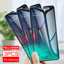 3PCS Tempered Glass For Samsung A50 A40 A70 A90 M30 A30 M10 A10 Screen