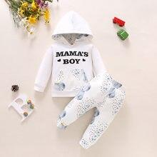 Pudcoco Одежда для новорожденных мальчиков с буквенным принтом