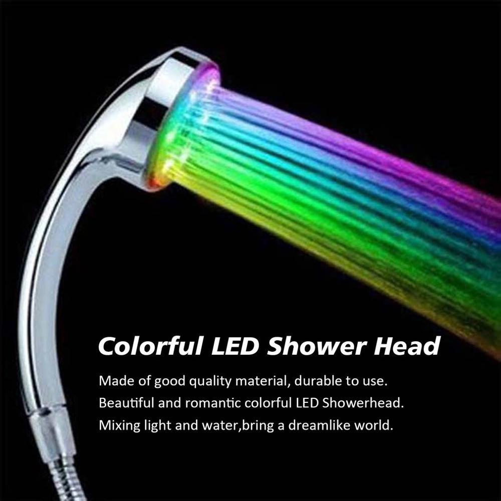 Хит продаж, 1 шт., 7 цветов, ручной душ, светодиодный душ с романтической автоматической насадкой для душа, светодиодный светильник для ванной...