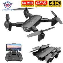 2020 novo f6 zangão 4k hd câmera dupla gps fpv wifi zangão com follow me 5g fluxo óptico dobrável rc quadopter zangão profissional