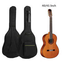 40 / 41 Inch Waterproof Guitar Bag Double Strap Padded Black Guitar Case Backpack Shoulder Strap Classical Guitar Cover Bag
