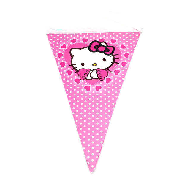 Hello Kitty Princess Tablecloth Kid Girls Favor Birthday Pack Event Party Cup Plate Mask Baby Shower Disposable Tableware Sets 1