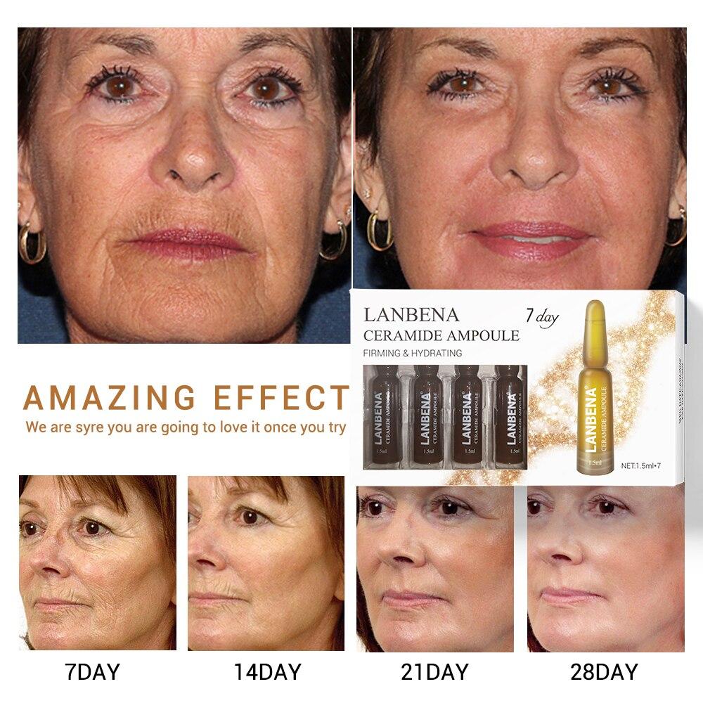 LANBENA 7 Days Ampoule Serum Hyaluronic Acid+Vitamin C+24K Gold Retinol+Q10+Ceramide Anti-Aging Wrinkle Moisturizing Skin Care