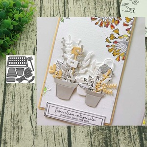 Metal cutting dies Potted plant cut die mold decoration Scrapbooking Embossing paper craft mould punch stencils(China)