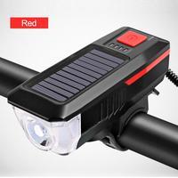 USB Aufladbare Hinten Lichter Bike Lichter Vordere Solar Horn Lampe LED Radfahren Zubehör Wasserdichte Taschenlampe Fahrrad Scheinwerfer