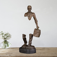 Ivorique DS-667 البرونزية الفنان الفن تمثال برونز تمثال النحت المشي تمثال رجل للمنزل الديكور النحت للديكور