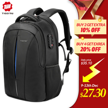 Tigernu Splashproof 15.6inch Laptop Backpack NO Key TSA Anti Theft Men Backpack