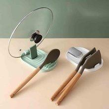 Kitchen Spoon Holder Fork Spatula Rack Shelf Plastic Spoon Holder Chopstick Holder Non-Slip Hot Cooking Kitchen Rack Accessories
