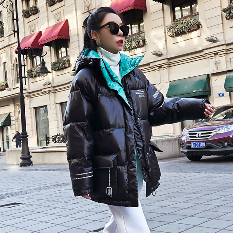 Waterproof Jacket Winter   Coat   Women   Down   Jackets 90% White Duck   Down     Coats   Thick Hooded Female Parka Oversize Feather Clothing