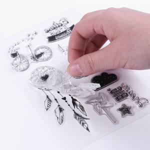 Scrapbooking Clear Stamping Transparent Silicone DIY Gifts Eco-Friendly Multi-Styles